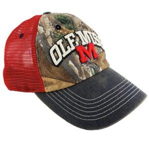 Ole Miss Rebels Realtree Camo Snapback Cap